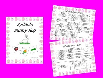 Spring Syllable Bunny Hop Game