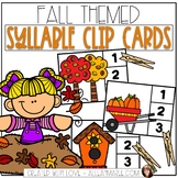 Syllable Card Clip Activity for Fall