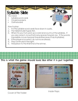 Syllable Card Sort