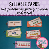 Syllable Cards {multi-syllabic word cards for blending pacing apraxia and more!}
