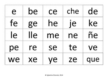 Syllable Cards (Spanish)