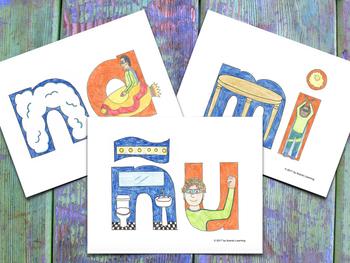 Syllable Cards - Tarjetones de las Sílabas MNÑ