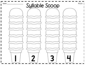 Syllable Center Activity