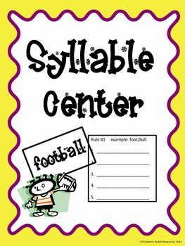 Syllable Center Card Sort