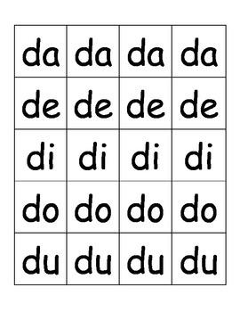 Syllable Center in Spanish (DaDeDiDoDu)