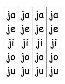 Syllable Center in Spanish (JaJeJiJoJu)