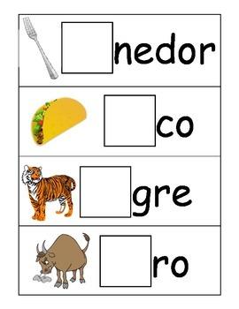 Syllable Center in Spanish (TaTeTiToTu)