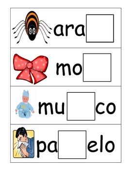 Syllable Center in Spanish (ñañeñiñoñu)