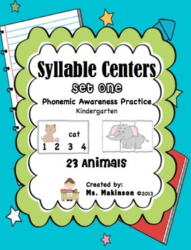Syllable Centers (Set One - Animals)