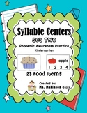 Syllable Centers (Set Two - Food Items)