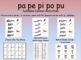 Syllable Centers - pa pe pi po pu/ spanish silabas