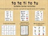 Syllable Centers - ta te ti to tu