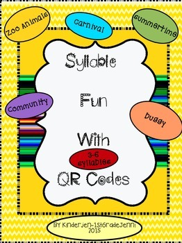 Syllable Clap Cards With QR Codes