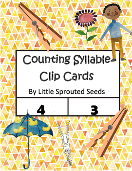 Syllable Clip Cards