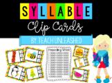 Syllable Activity - Clip Cards