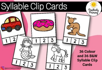 Syllable Clip Cards - Colour and Black and White Options