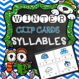 Syllable Clip Cards {Winter Theme}