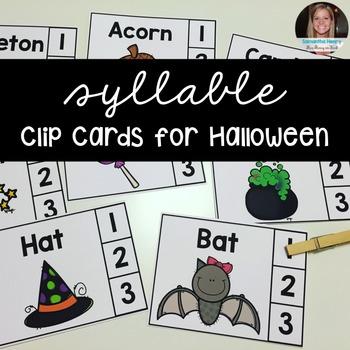 Halloween Clip Cards FREEBIE!!!