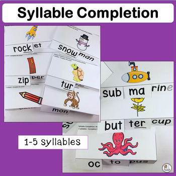 Syllable Completion complements programs like Jolly Phonics.