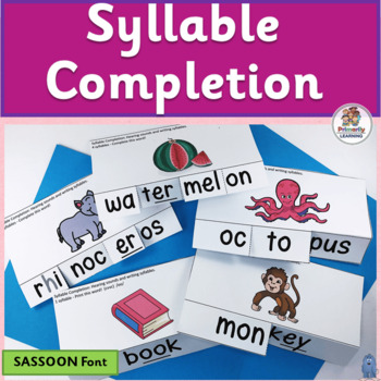 Syllable Completion complements programs like Jolly Phonics. (SASSOON)