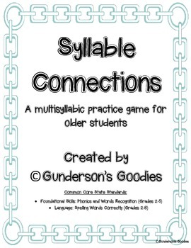 Syllable Connections - A Multisyllabic Word Game