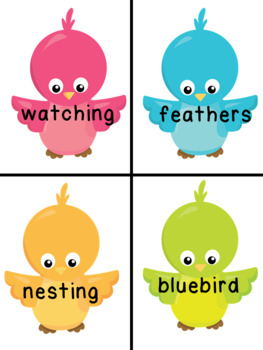 Syllable Count - Birds And Birdhouses