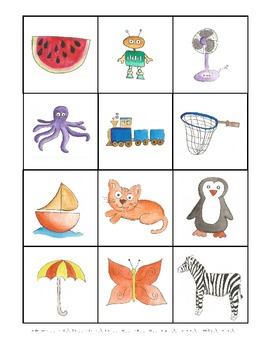 Phonological Awareness Syllable Count Board Game