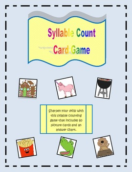 Syllable Count Card Game