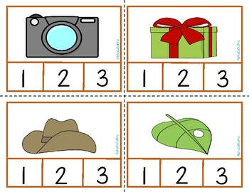 Syllable Count Clip Cards