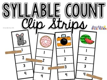 Syllable Count Clip Strips