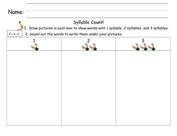 Syllable Count Draw