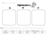 Syllable Count Sort- Thanksgiving Theme