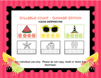 Syllable Count - Summer Edition
