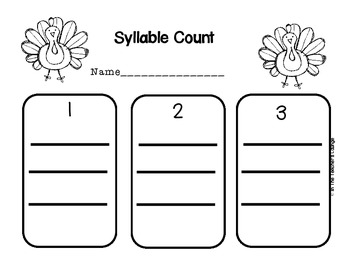 Syllable Count Write the Room