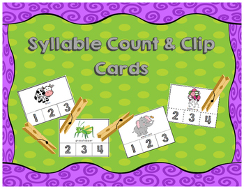 Syllable Count and Clip Cards