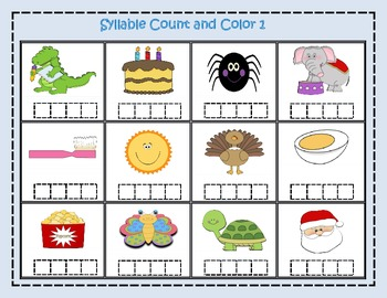 Syllable Count and Color