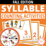 Syllable Counting Activities - Autumn: Syllable Action Spi