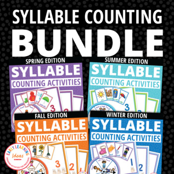 Syllable Counting Activities BUNDLE: Syllable Action Spinner and Sorting Mats