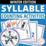 Syllable Sort | Teach Syllables Activity for Preschool and Kindergarten - Winter