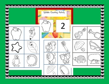 Syllable Counting Center Cards