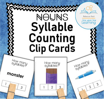 Syllable Counting Clip Cards (Nouns)