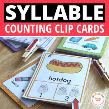 Syllable Activities | Teach Syllables with Counting Clip Cards