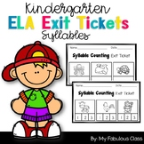 Syllable Counting Exit Tickets