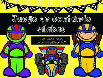Syllable Counting Game in Spanish- Racetrack Theme