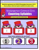Syllable Counting Interactive Literacy Activity Task Cards