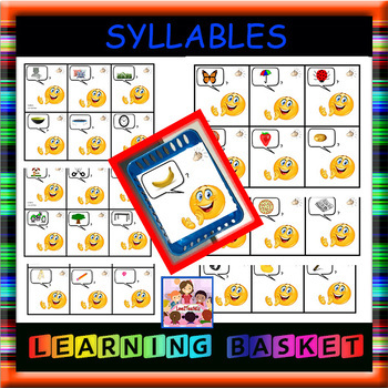 Syllable Counting Literacy Center Cards  - 36 cards