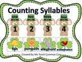 Syllable Counting Literacy Station Daily 5 Word Work St. Patrick's Day Theme