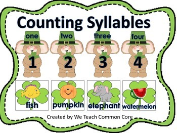 Syllable Counting Literacy Station Daily 5 Word Work St. P