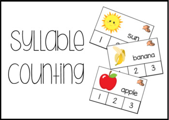 Syllable Counting Task Box Clip Cards