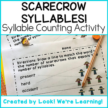 Syllable Counting Worksheets - Scarecrow Syllables!